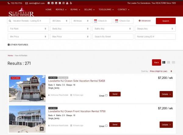 New Rental Search