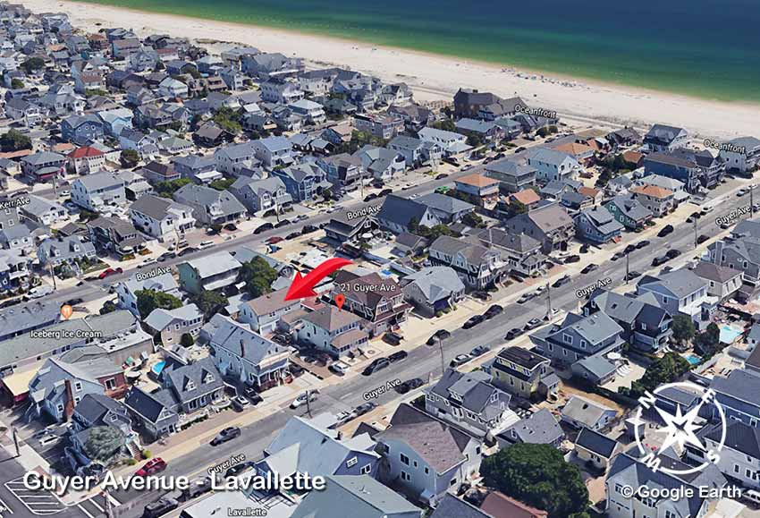 lavallette oceanside rental aerial views